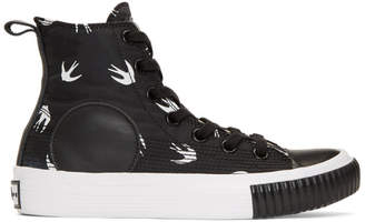 McQ Black Plimsoll High Sneakers