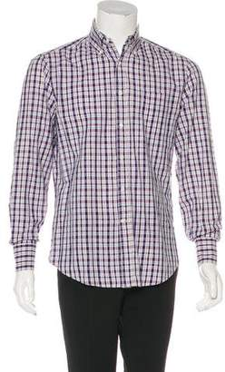 Brunello Cucinelli Plaid Woven Shirt