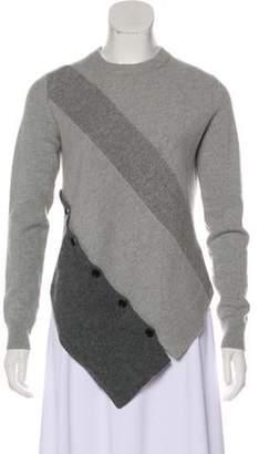 Proenza Schouler Asymmetrical Knit Sweater Grey Asymmetrical Knit Sweater