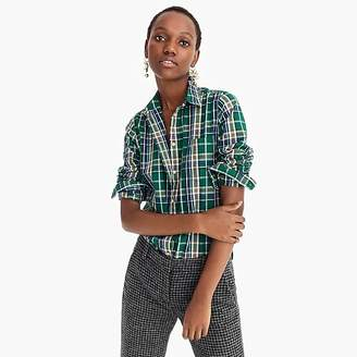 J.Crew Classic-fit shirt in green-and-pink plaid