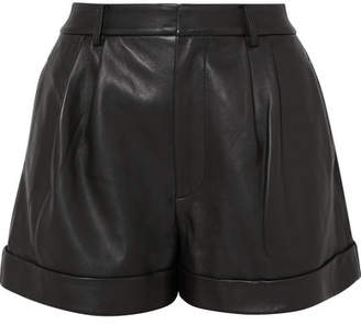 Alice + Olivia Alice Olivia - Conry Leather Shorts - Black