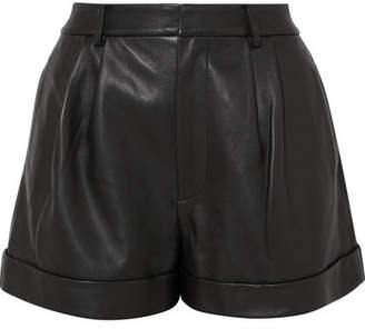 Alice + Olivia Alice Olivia - Conry Leather Shorts - Black