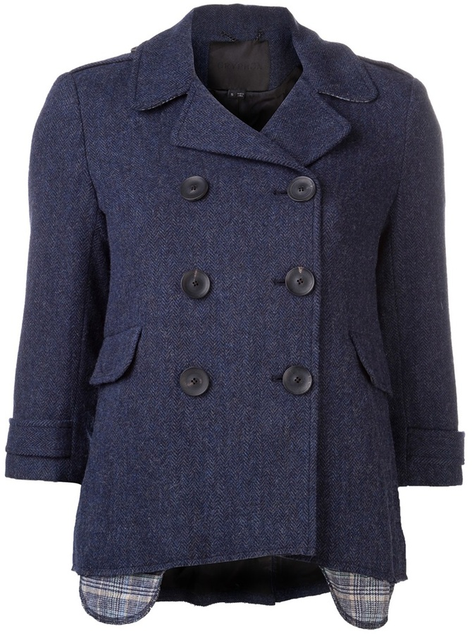 Gryphon double breasted peacoat