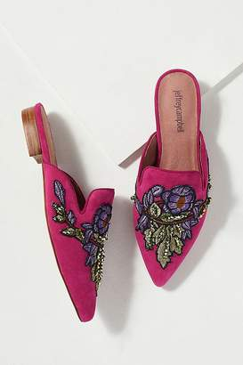 Jeffrey Campbell Embroidered-Backless Flats