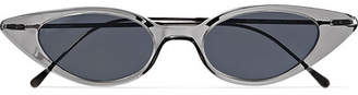 Illesteva Marianne Cat-eye Acetate And Gunmetal-tone Sunglasses - Gray