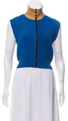 Louis Vuitton Rib Knit Zip-Up Vest