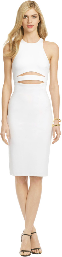 Cushnie et Ochs White Shockwave Dress