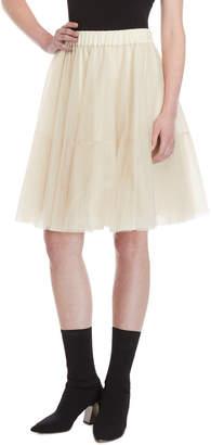 P.A.R.O.S.H. Cream Tulle Skirt
