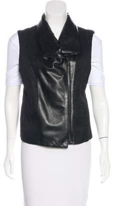 Vince Asymmetrical Shawl-Collar Vest