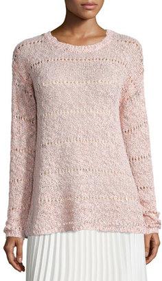 Neiman Marcus Foil-Print Sweater, Dusty Rose $195 thestylecure.com