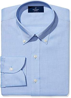Buttoned Down Men's Slim Fit Button-Collar Solid Non-Iron Dress Shirt (Pocket)