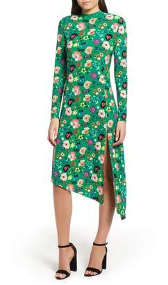 Topshop Floral Chuck On Midi Dress