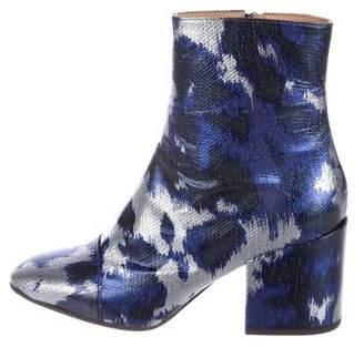 Dries Van Noten Leather Ankle Booties