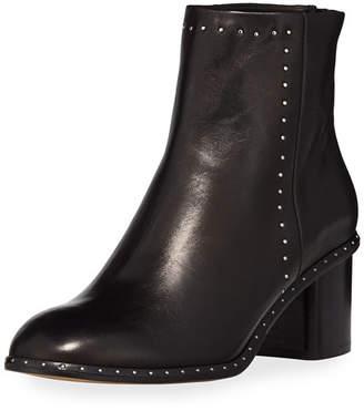 Rag & Bone Willow Studded 50mm Ankle Boot, Black