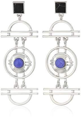 Danielle Nicole Wilhelm Silver / Purple / Black Drop Earrings
