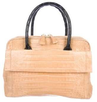 Nancy Gonzalez Dual-Zip Crocodile Bag
