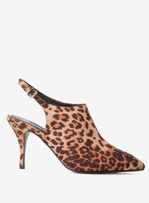 Dorothy Perkins Womens Multi Colour Leopard Print Pu 'Greta' Shoe Boots