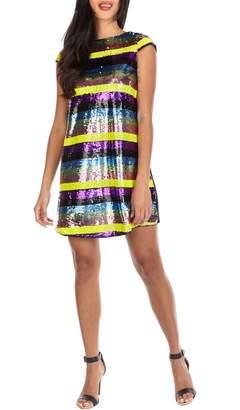 TFNC Rala Rainbow Sequin Shift Dress