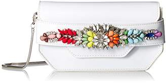 Steve Madden Pauline Patent Multi Colored Jewels and Rhinestones Clutch Crossbody