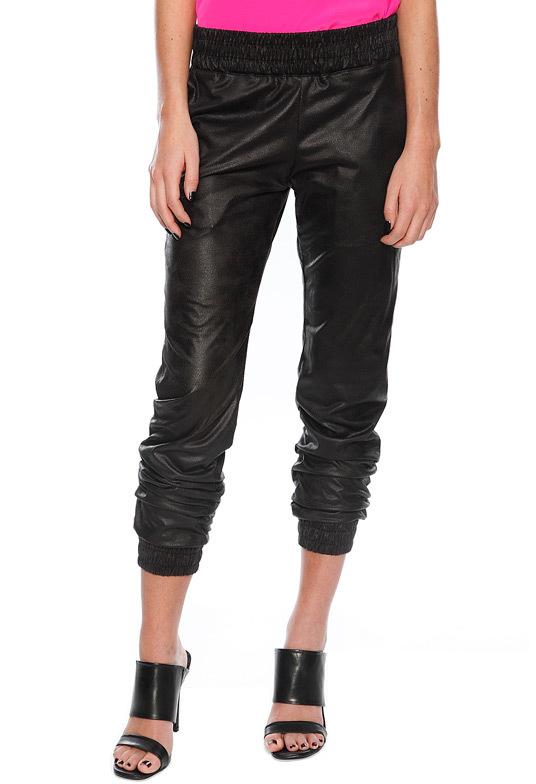 Vegan Leather Sweatpant