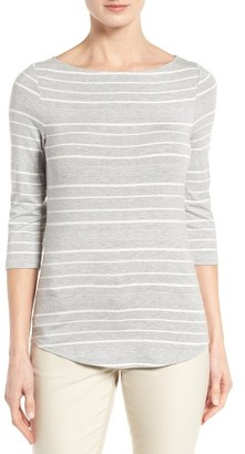 Women's Nordstrom Collection Stripe Boat Neck Tee $99 thestylecure.com