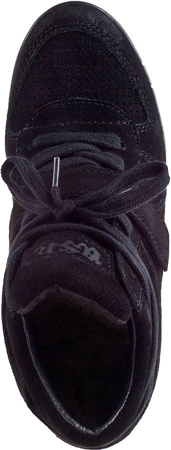 Ash Bowie Wedge Sneaker Black/Black Suede