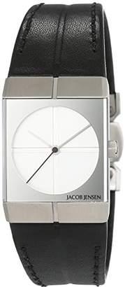 Jacob Jensen Unisex Quartz Watch Analogue Display and Leather Strap 242