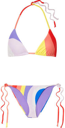 Mara Hoffman Triangle Bikini - Bright orange