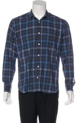 Billy Reid Woven Striped Shirt
