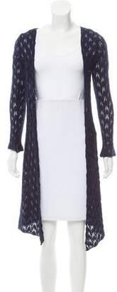 Calypso Wool-Cashmere Longline Cardigan