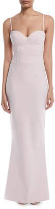 Chiara Boni Dionella Sweetheart Cami-Strap Column Gown