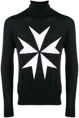 Neil Barrett embroidered roll-neck sweater