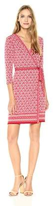 Max Studio Women's Long Sleeve Wrap Dress