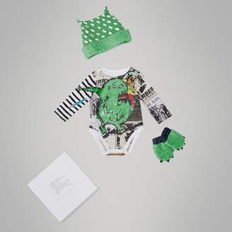 Burberry Monster Motif Three-piece Baby Gift Set