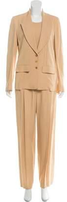 Sonia Rykiel Wide-Leg Three-Piece Pantsuit Tan Wide-Leg Three-Piece Pantsuit