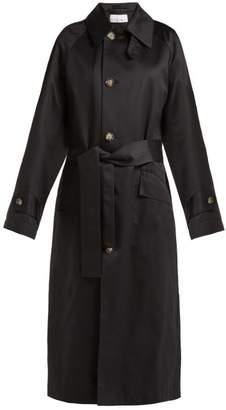 Raey Split Back Cotton Trench Coat - Womens - Navy
