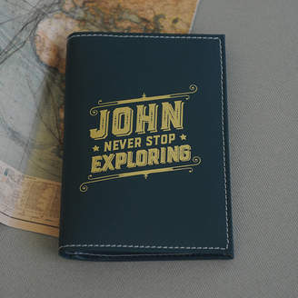Undercover Personalised Leather Passport Cover