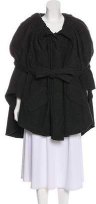 Just Cavalli Wool-Blend Button-Up Cape