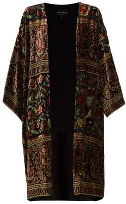 Etro Suffolk Floral Velvet Devore Coat - Womens - Black Multi