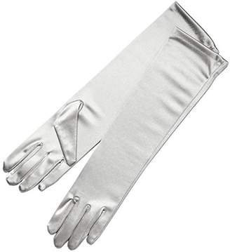 Seven & Nine Service Women Elegant Elbow Length Stretchy Satin Gloves