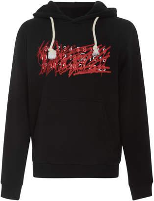 Maison Margiela Graphic Logo Japanese Fleece Hoodie