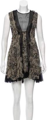 Emma Cook Printed Silk Dress