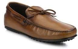 Tod's Burnished Leather City Driver Moccasins