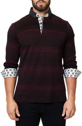 ING Maceoo Men's Striped Long-Sleeve Polo Shirt