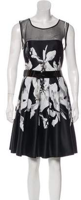 Halston Printed Sleeveless Dress