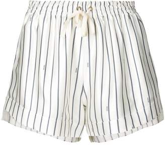 Monse tie waist striped shorts