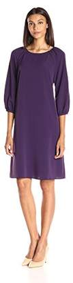 Lark & Ro Women's Three Quarter Raglan Sleeve Shift Dress