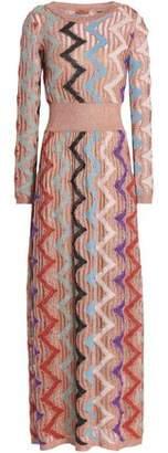 Missoni Metallic Ribbed-Knit Maxi Dress
