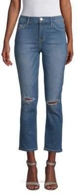 Current/Elliott High-Waist Straight Jeans