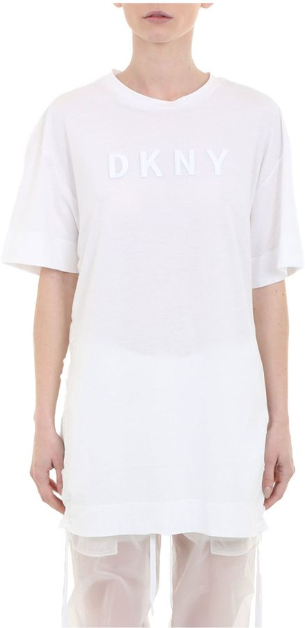DKNY Crew Neck Tee Embroidered Logo